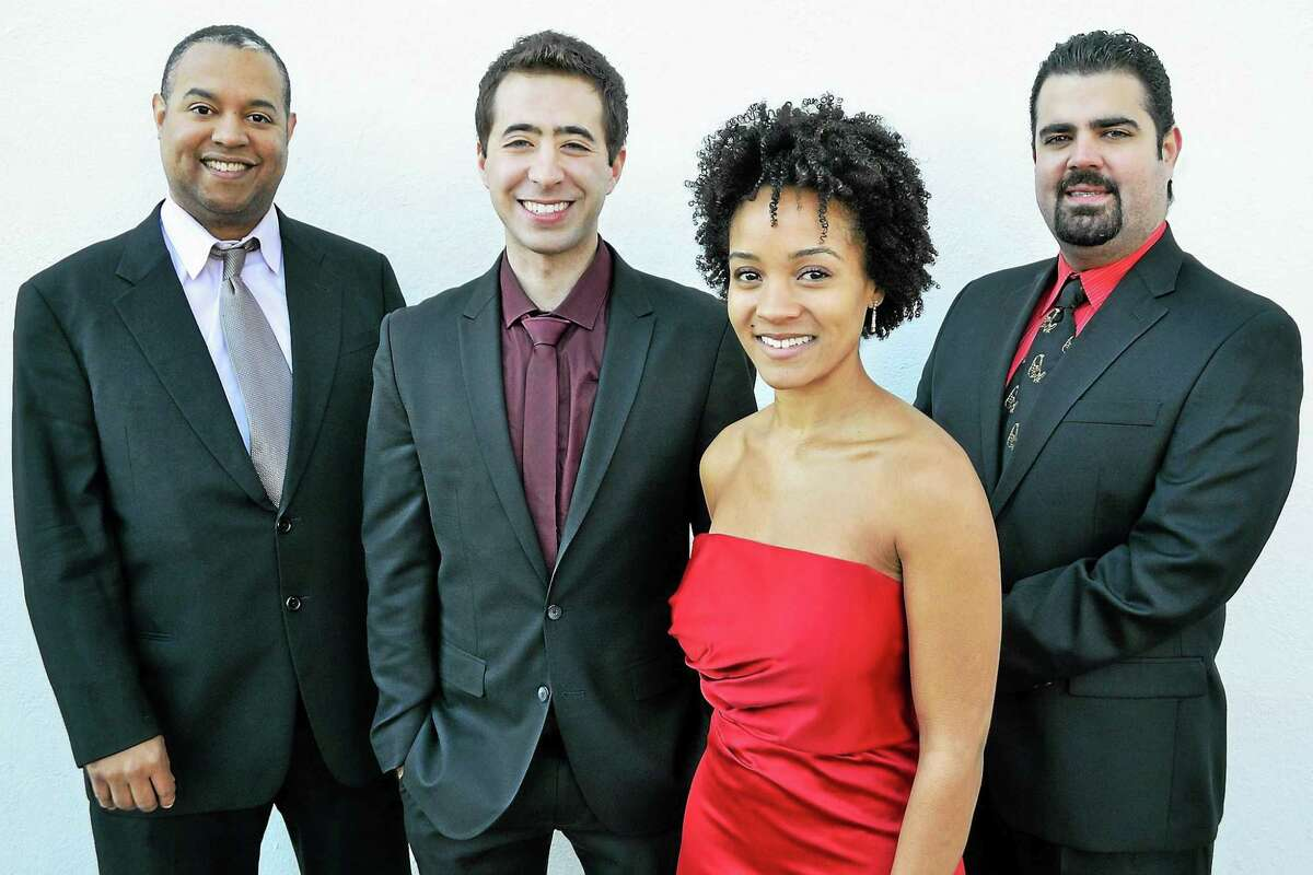 Contributed photo The Harlem String Quartet is the highlight of Music Mountain's weekend performances, Sunday, Aug. 23. The quartet will be joined by guest artist, pianist Francine Kay, performing Beethoven, Turina, Bartok, Borodin, and Dvorak.