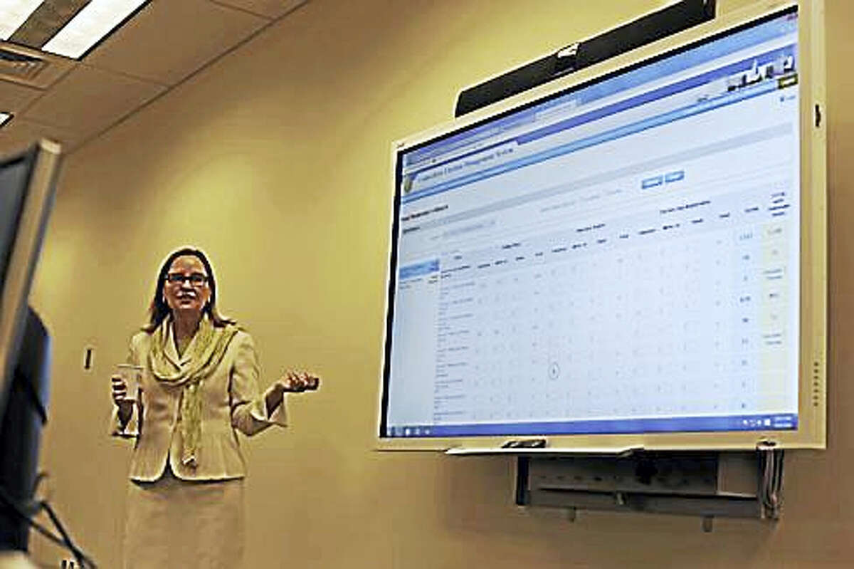Secretary of the State Denise Merrill unveils the new system