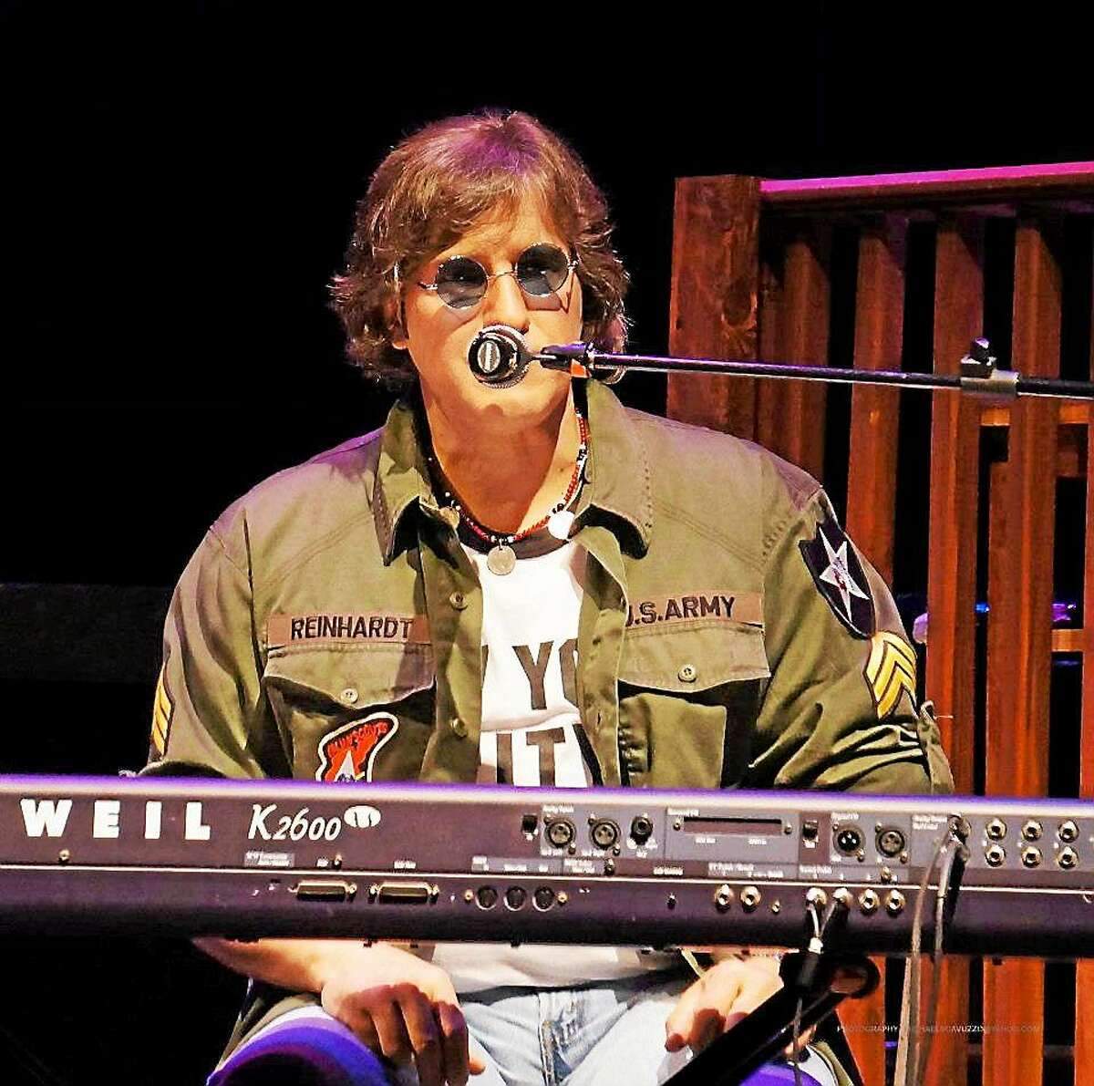 """Contributed photos """"In My Life: The John Lennon Tribute"""" faithfully recreates the sounds, stories, and songs of John Lennon, performed by Carlo Cantamessa. The tribute show will be held at New Milford High School's theater April 25."""