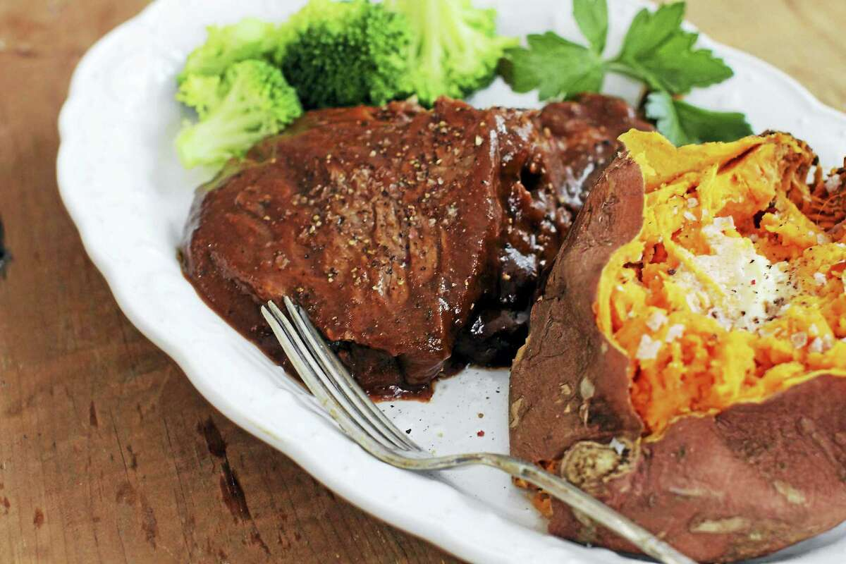Braising the brisket the day before is an easy way to add tons of flavor to this classic Passover dish.