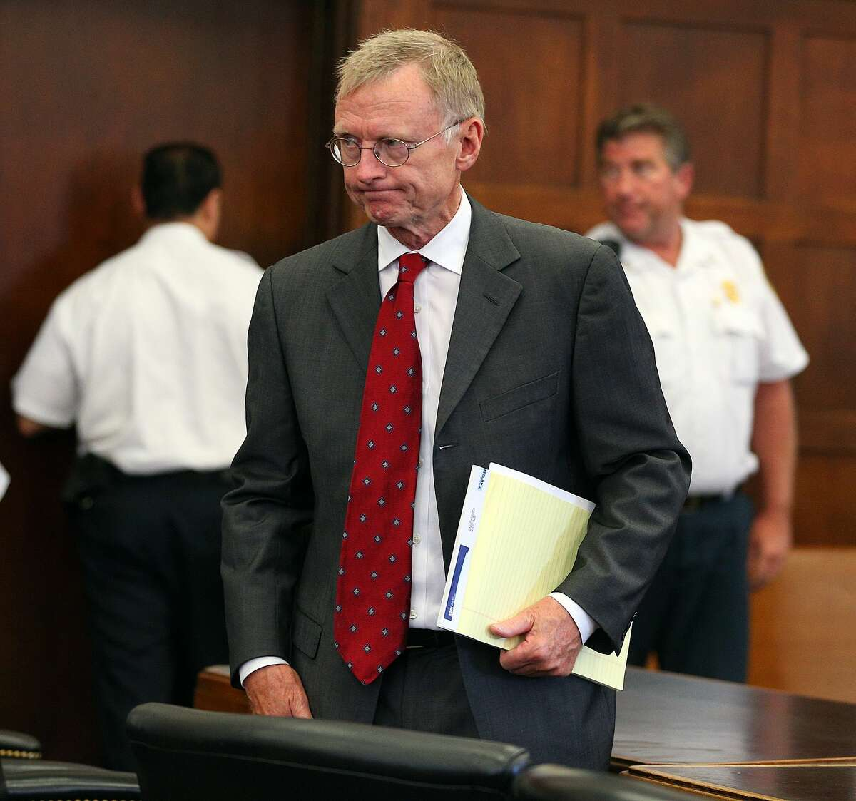 Aaron Hernandez's defense attorney Charles Rankin attends a hearing on Aug. 4 in Boston.