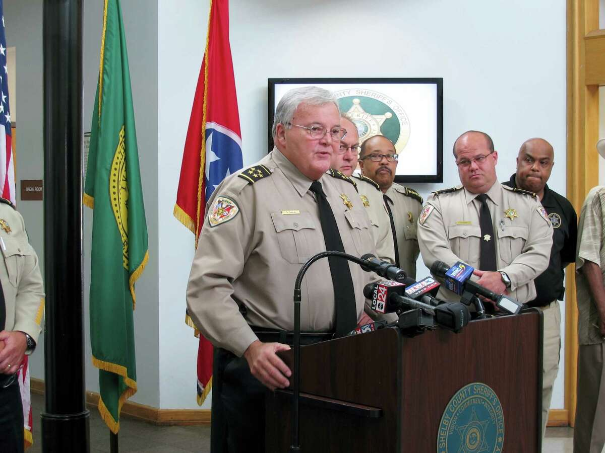 Shelby County Sheriff Bill Oldham speaks at a news conference about the fatal stabbings of four children on Saturday, July 2, 2016 in Memphis, Tenn. Shanynthia Gardner of Memphis was charged with four counts of first degree murder while committing aggravated child neglect in the deaths of four of her children 'Äî all under the age of 5 'Äî whose bodies were found after deputies entered her apartment in unincorporated Shelby County.