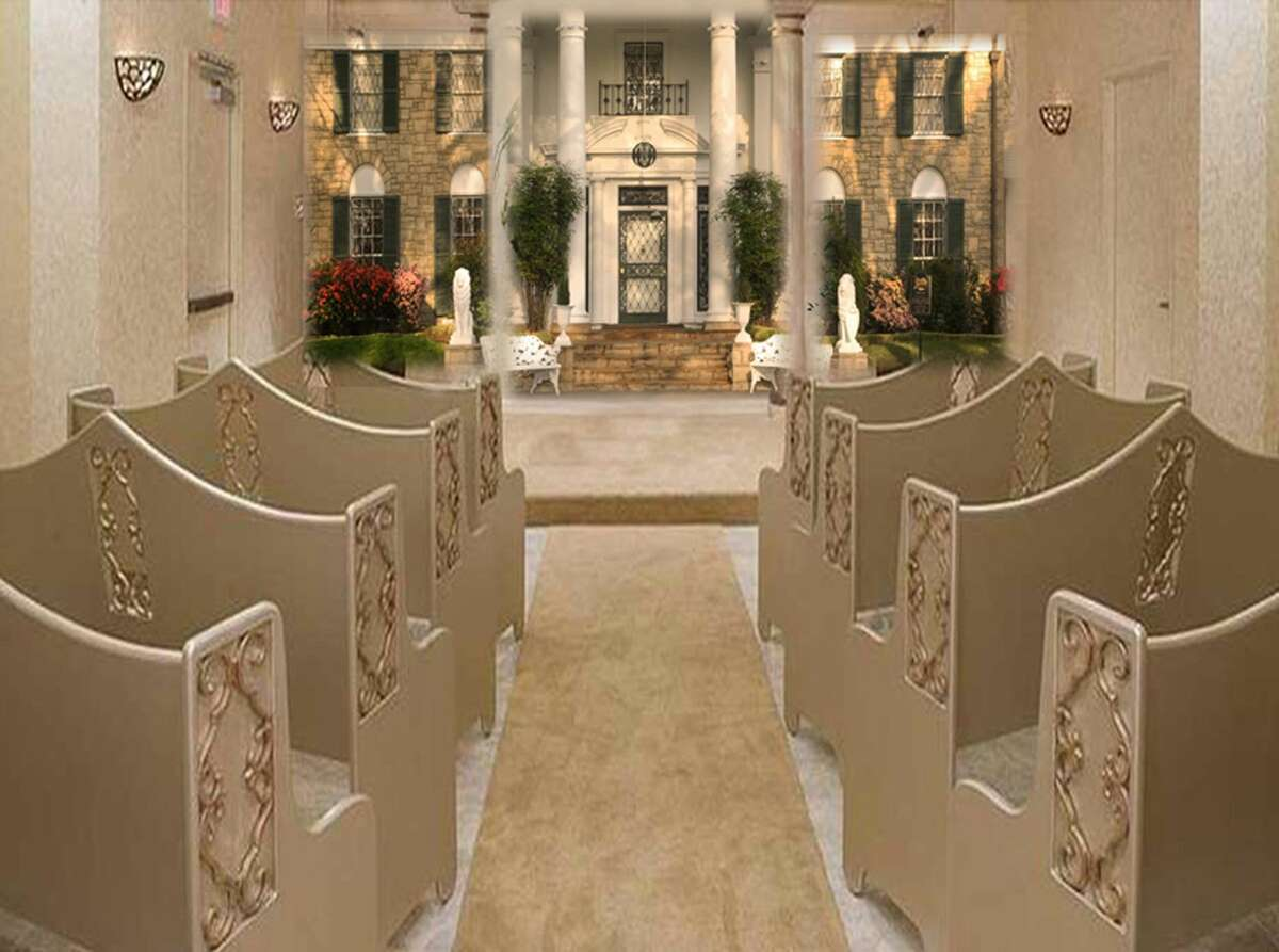 This undated photo provided by Elvis Presley's Graceland shows an artistís rendering of the new Elvis Presleyís Graceland Wedding Chapel at the Westgate Resort & Hotel in Las Vegas, as part of the newìGraceland Presents ELVIS: The Exhibition - The Show - The Experienceî in Las Vegas.