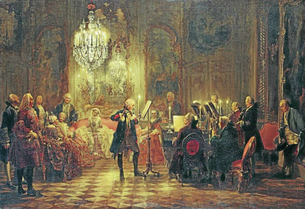 Contributed photoA vintage view of a Viennese chamber concert.