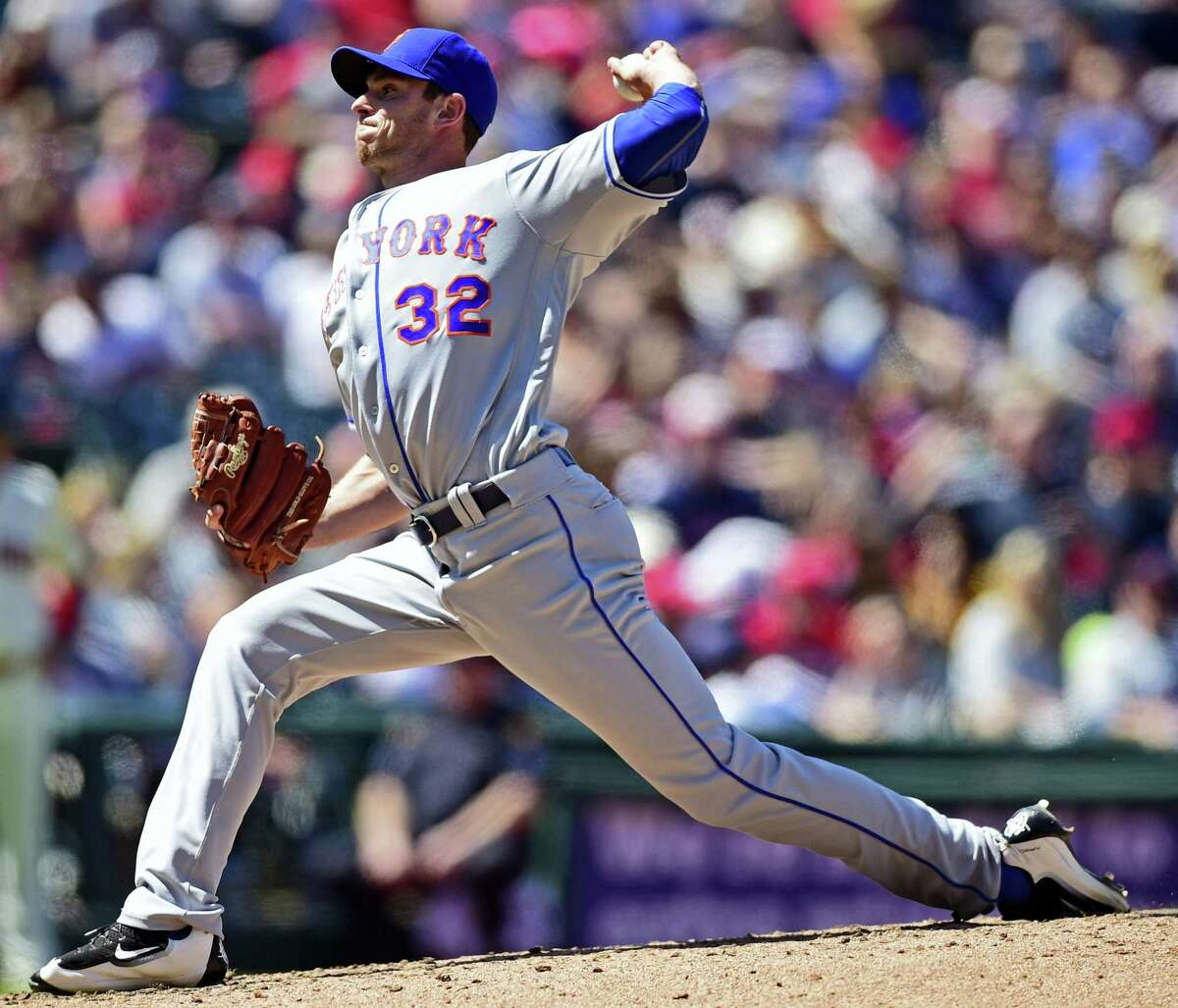 Steven Matz delivers a pitch in the third inning against the Indians on Sunday.