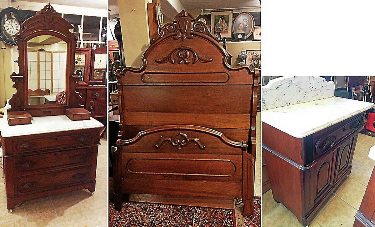 Contributed photo Walnut bedroom furniture.