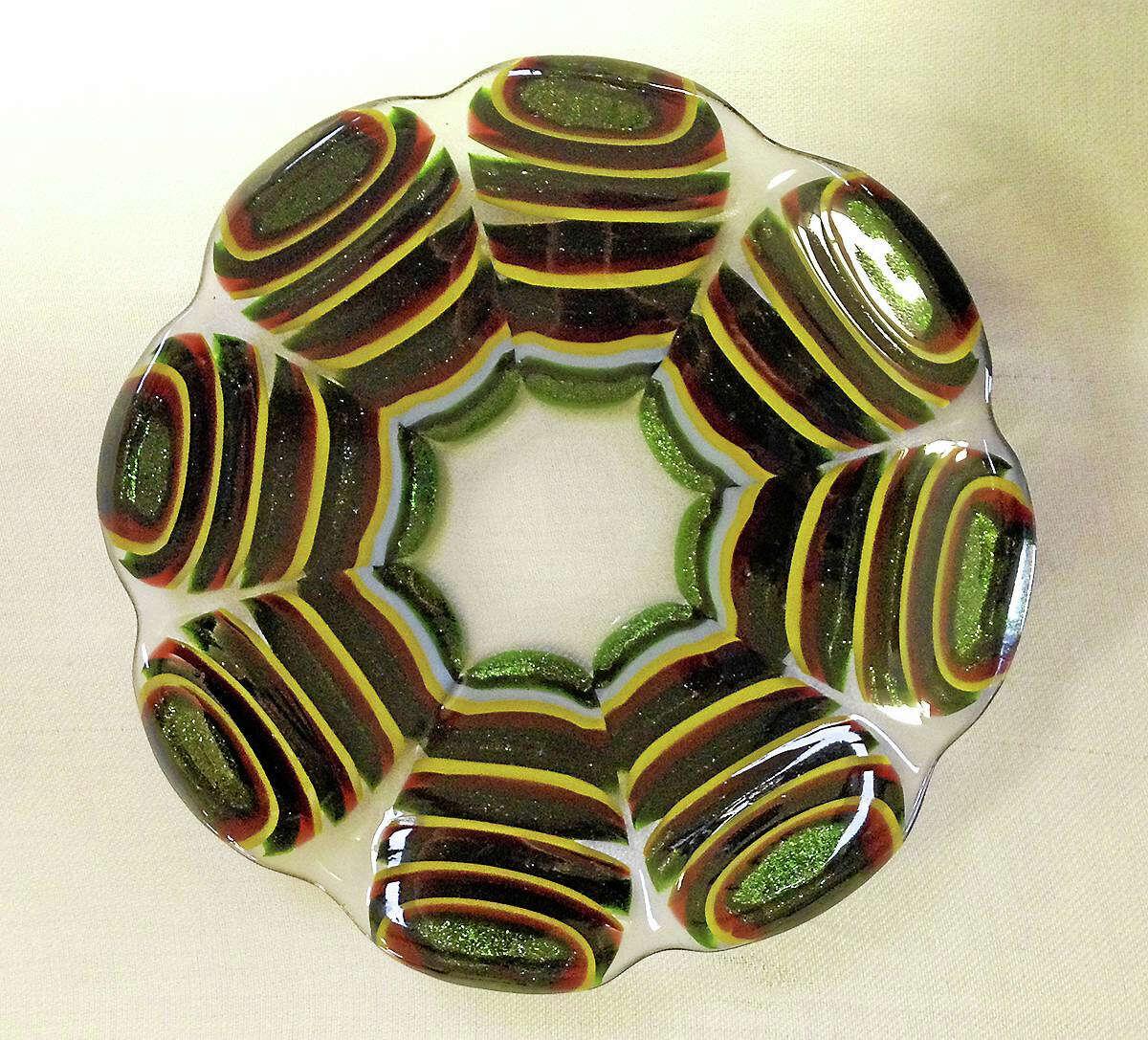 Contributed photo A unique, decorative glass plate.