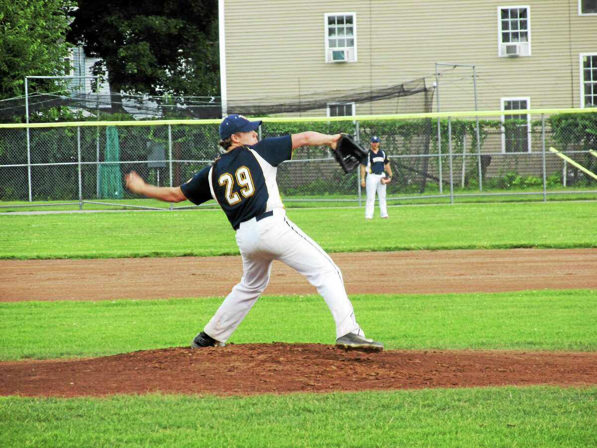 Peter Wallace ó Register Citizen Torrington starter Colby Tollison went five and two-thirds strong innings of a pitcher's duel long before the roof fell in on the Titans Sunday night in the 10th inning.