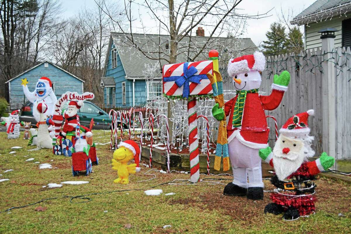 The display at 2480 Newfield Road won first place for residential Christmas display in the city's decorating contest in 2014.