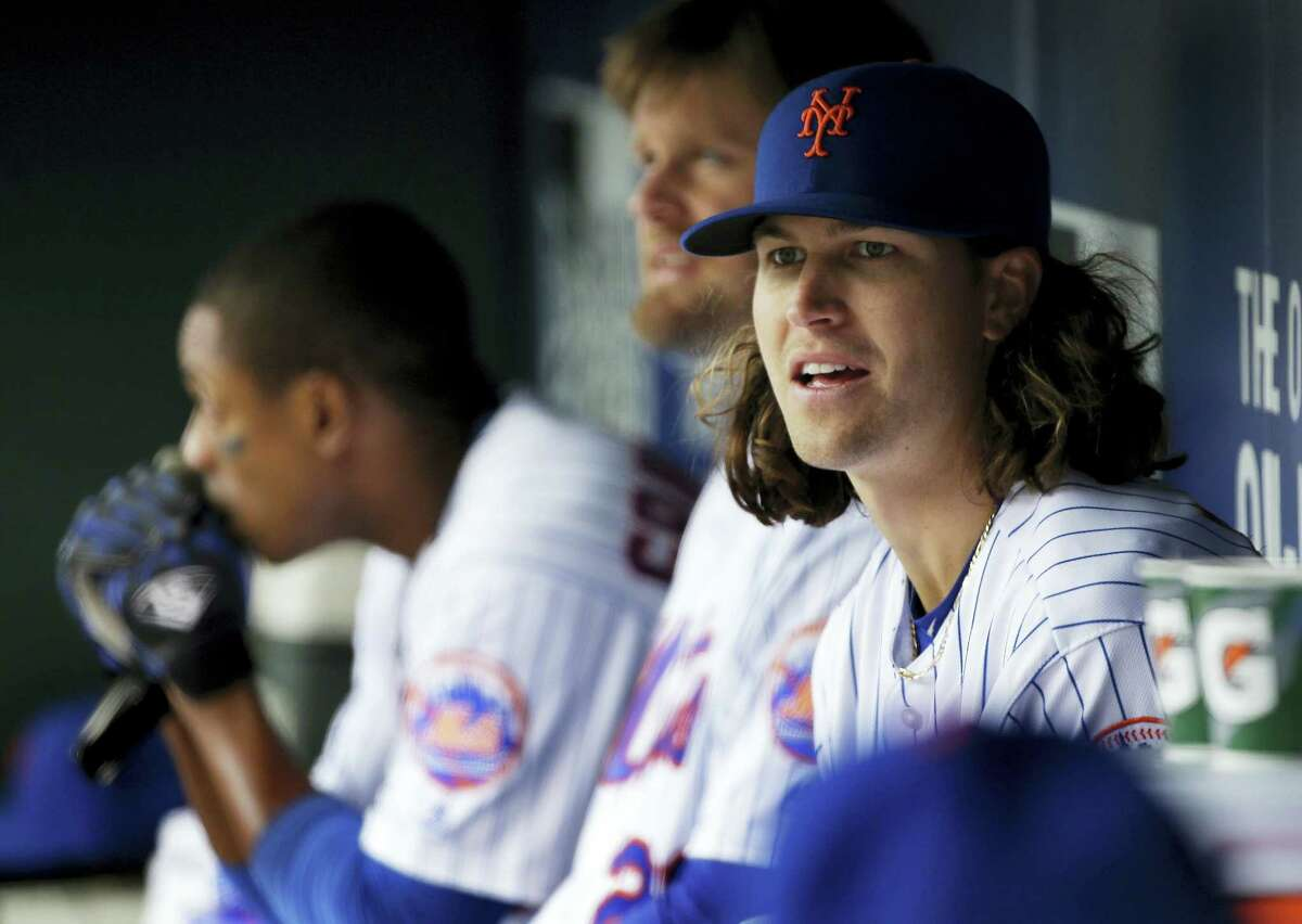 Mets pitcher Jacob deGrom was placed on the family medical emergency list because of health complications involving his newborn child.