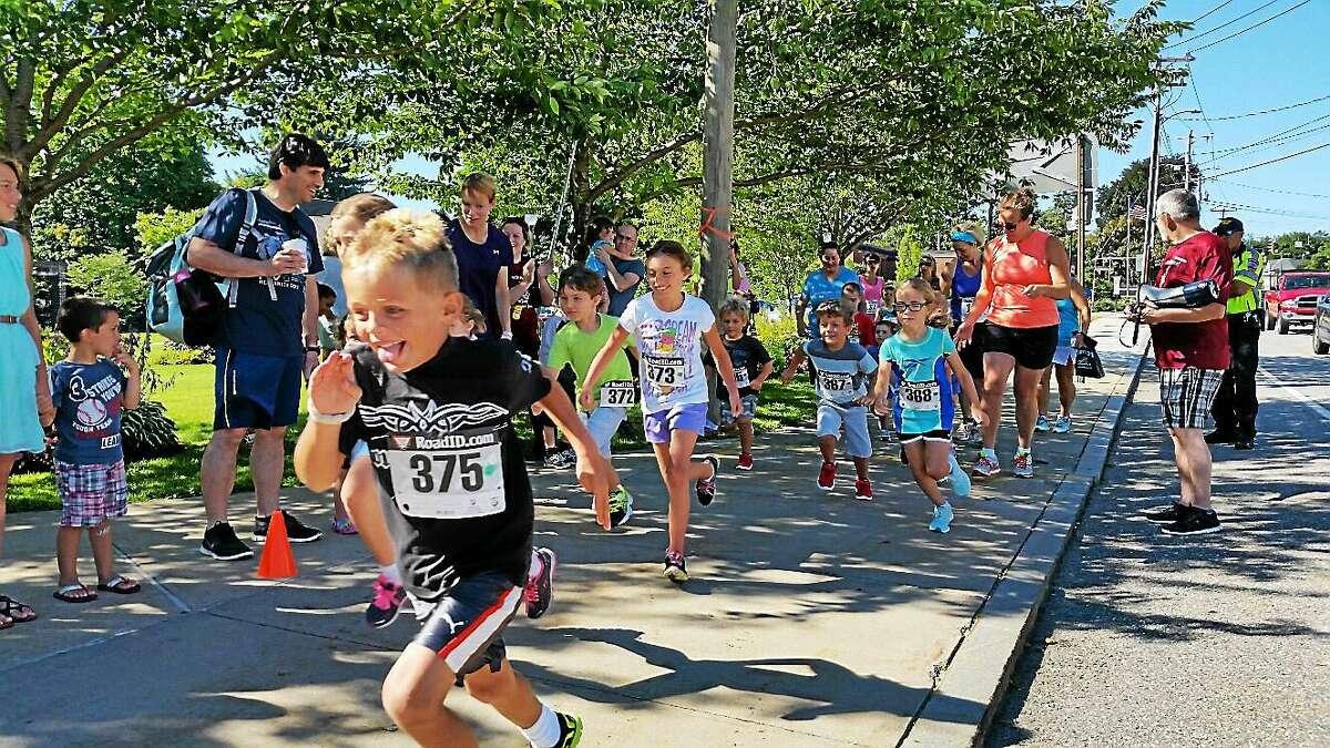 N.F. Ambery photo Seventeen children ran in the Fun Run prior to the 44th annual five-mile Torrington Road Race.