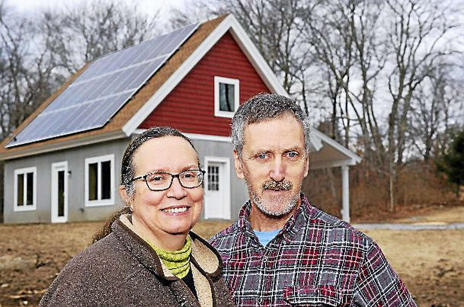 Contributed photoJames and Phoebe Katzin of Litchfield, were two of the overall winners in the Zero Energy Challenge in a tie with Paul and Julia Torcellini of Oxford. Photo: Journal Register Co.