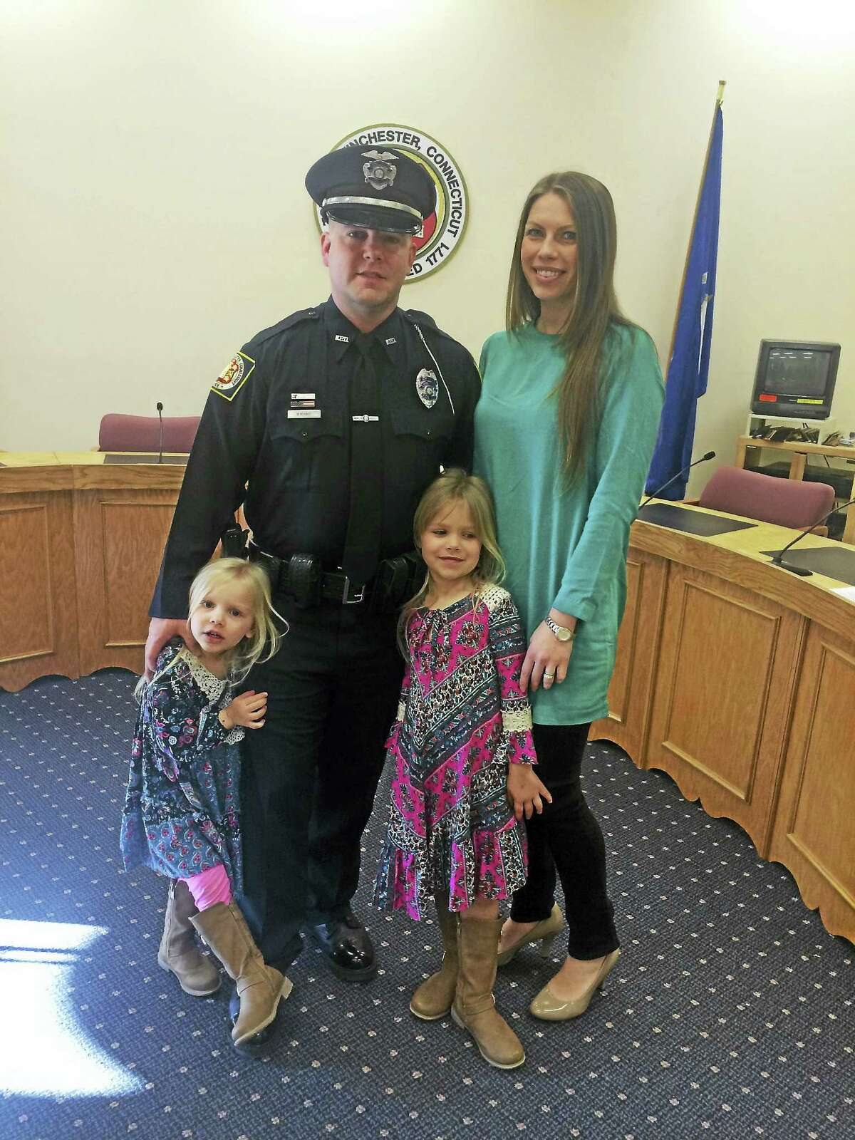 Bradley Kovacs and his family — wife Kathryn and daughters Avery, 5, and Kaylyn, 3.