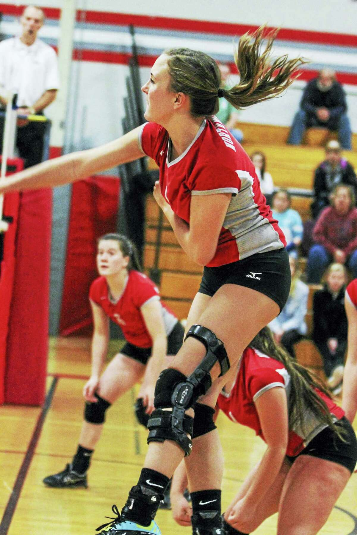 Molly Clarke's seven kills were part of a Northwestern barrage at the net when the Highlanders weren't serving aces Monday night at Northwestern High School.