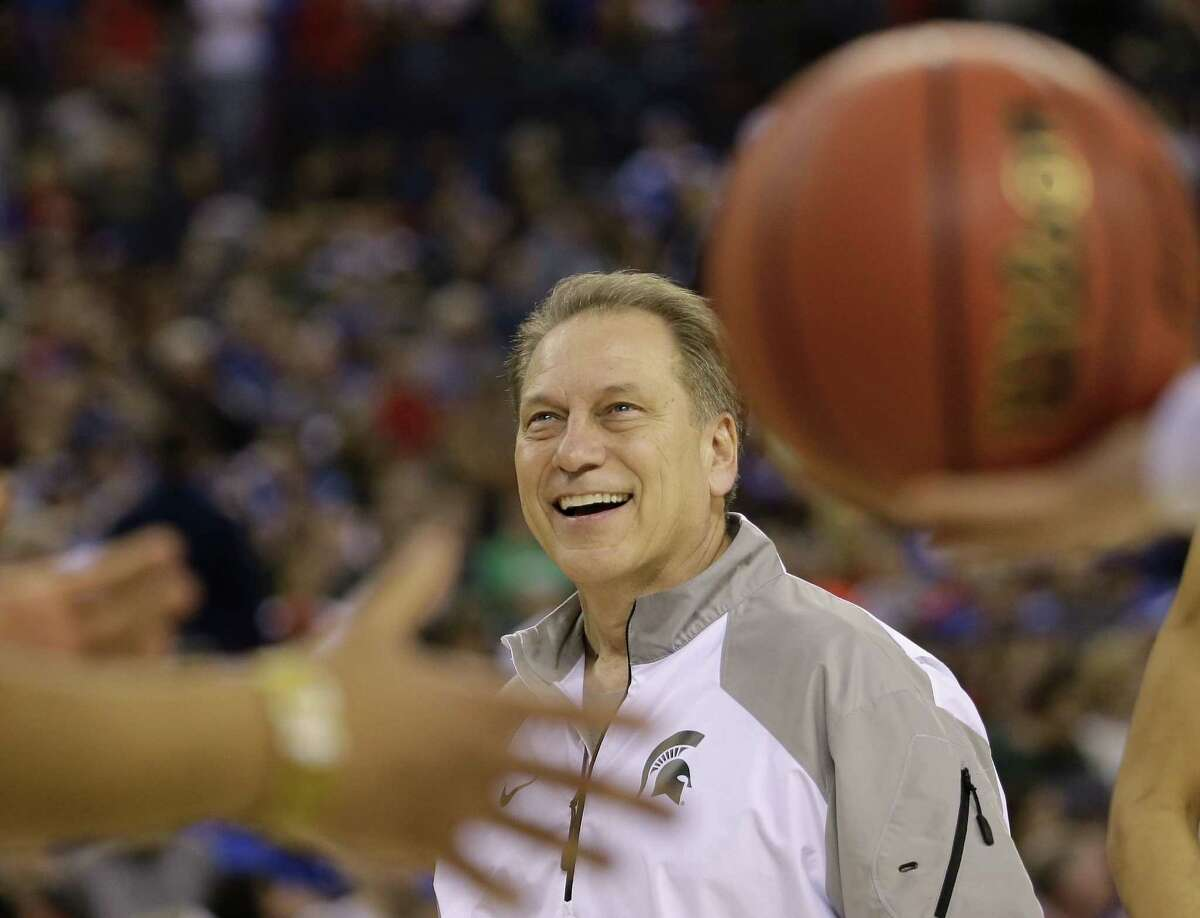 Michigan State head coach Tom Izzo will lead his Spartans against Duke at the Final Four in Indianapolis.