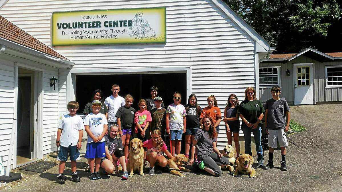 Campers and staff at ECAD's Youth Summer Camp located on Newfield Road in Torrington.
