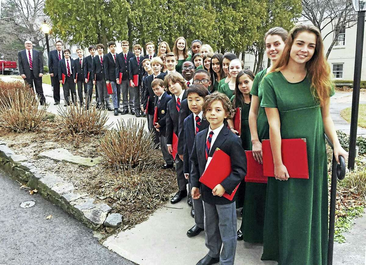 Members of the girls and boys choirs at Trinity Church will sing Saturday night.