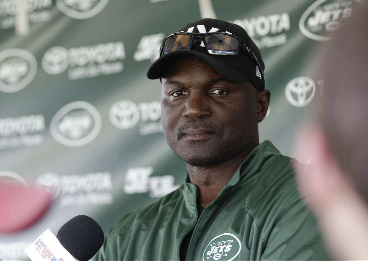 New York Jets head coach Todd Bowles speaks to the media Wednesday in Florham Park, N.J.