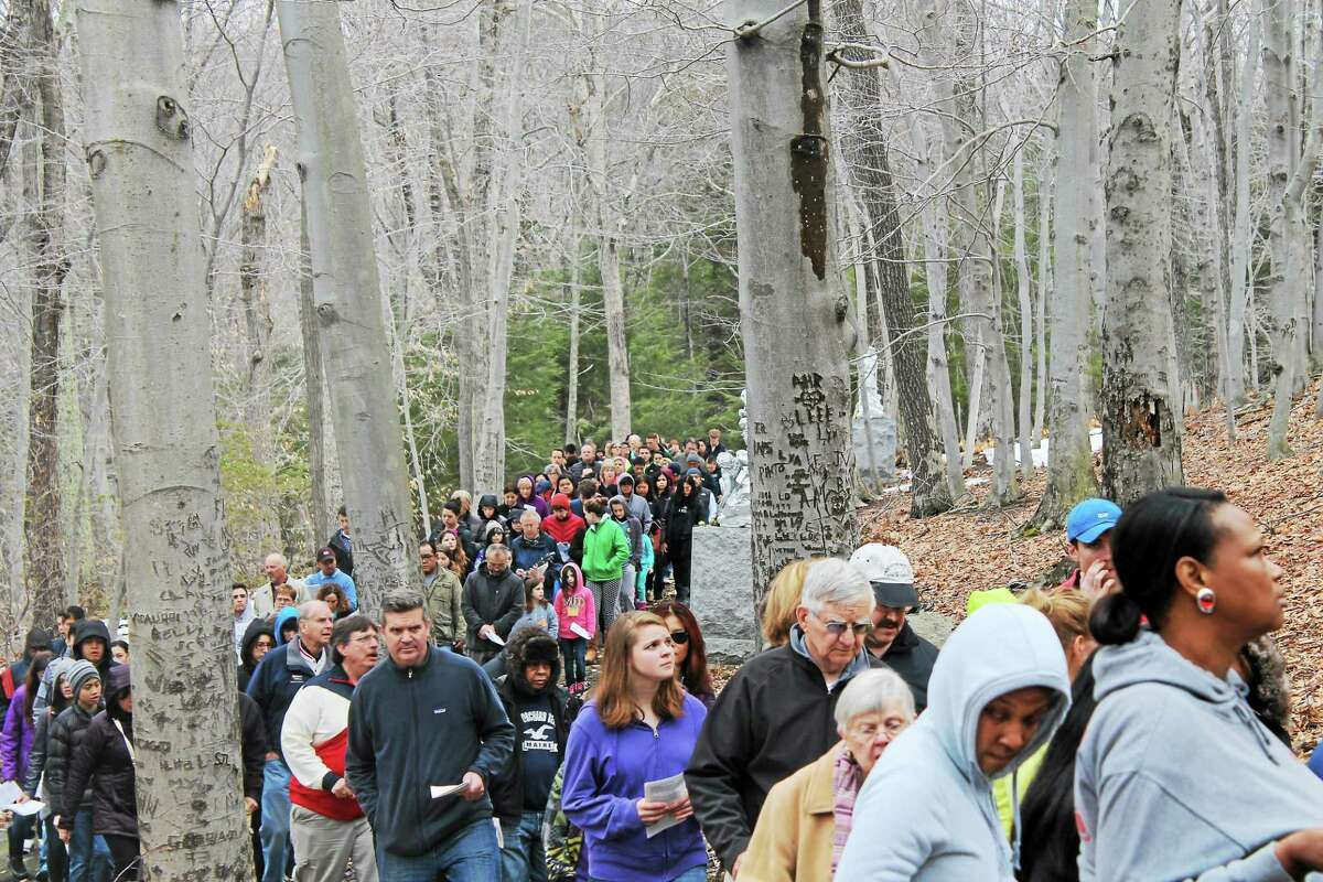 Lourdes in Litchfield offered the Stations of the Cross to visitors on Good Friday.