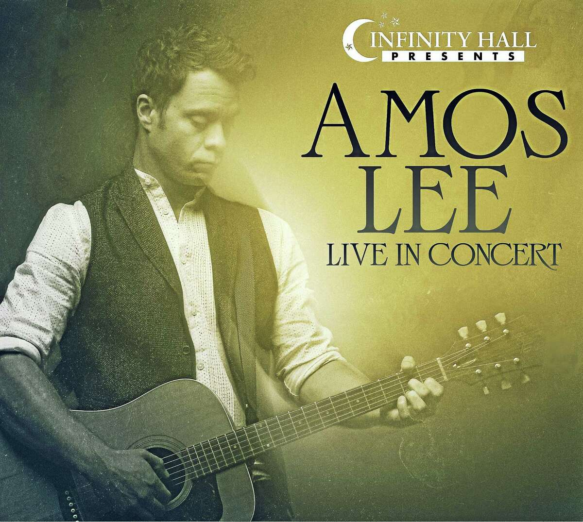 Contributed photoGuitarist Amos Lee performs at the Warner Theatre, in a concert presented by Infinity Hall, on Wednesday, Sept. 7.