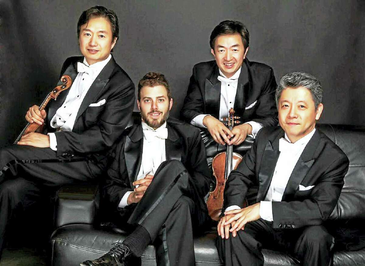 Contributed photo The Shanghai String Quartet performs at Music Mountain on Saturday and Sunday, Sept. 4-5.