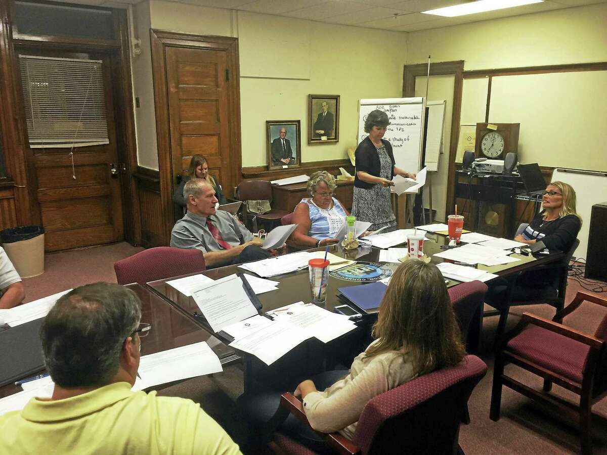 Ben Lambert - The Register Citizen Board of Education members discussed their goals for 2016-17 and 2017-18 Tuesday evening in Torrington.