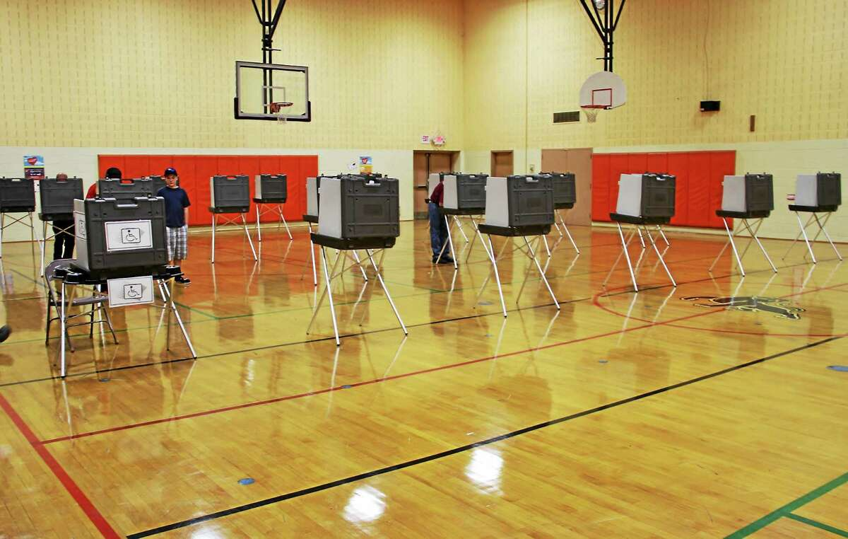 Manon L. Mirabelli - The Register Citizen Pearson Middle School in Winsted on Election Day.