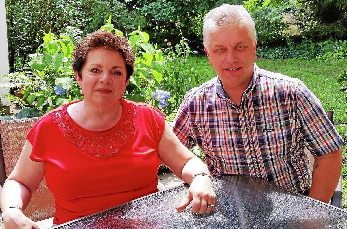 Author Velya Jancz-Urban with her husband, Jim Urban.