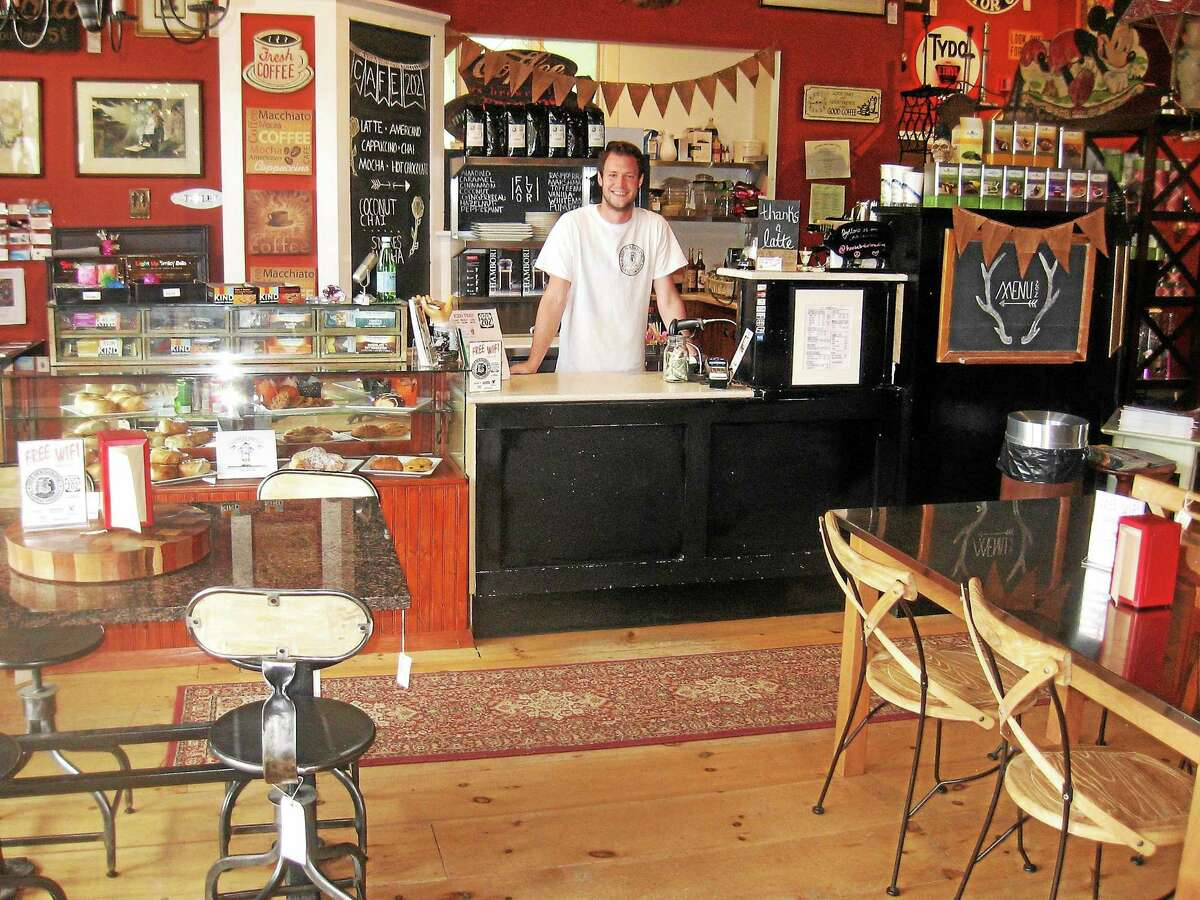 Matt Saul mans the shop's cafÈ.