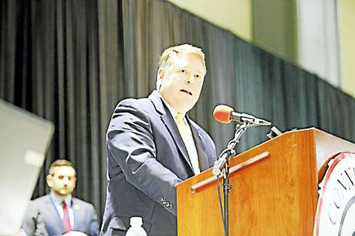 Dan Carter accepts the endorsement at the Republican Convention in May