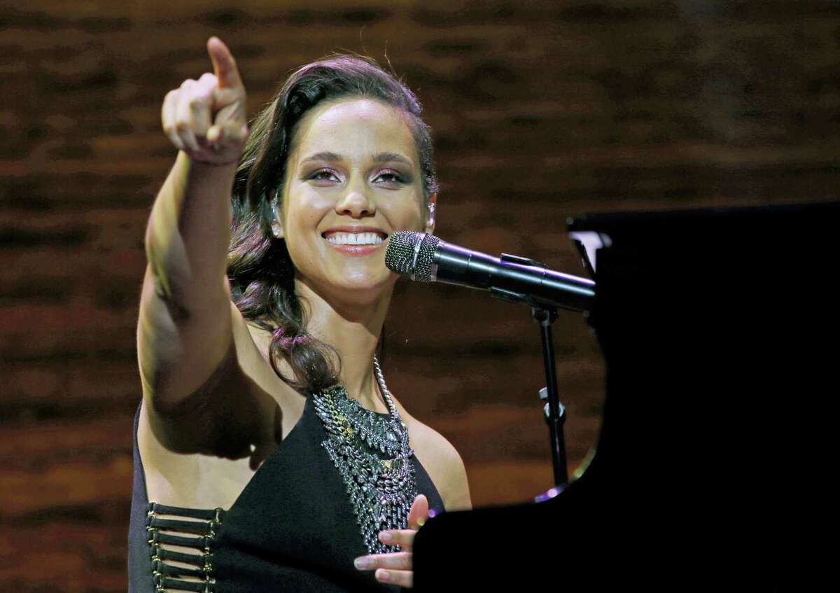 In this March 23, 2016 photo, singer Alicia Keys performs in Seattle.
