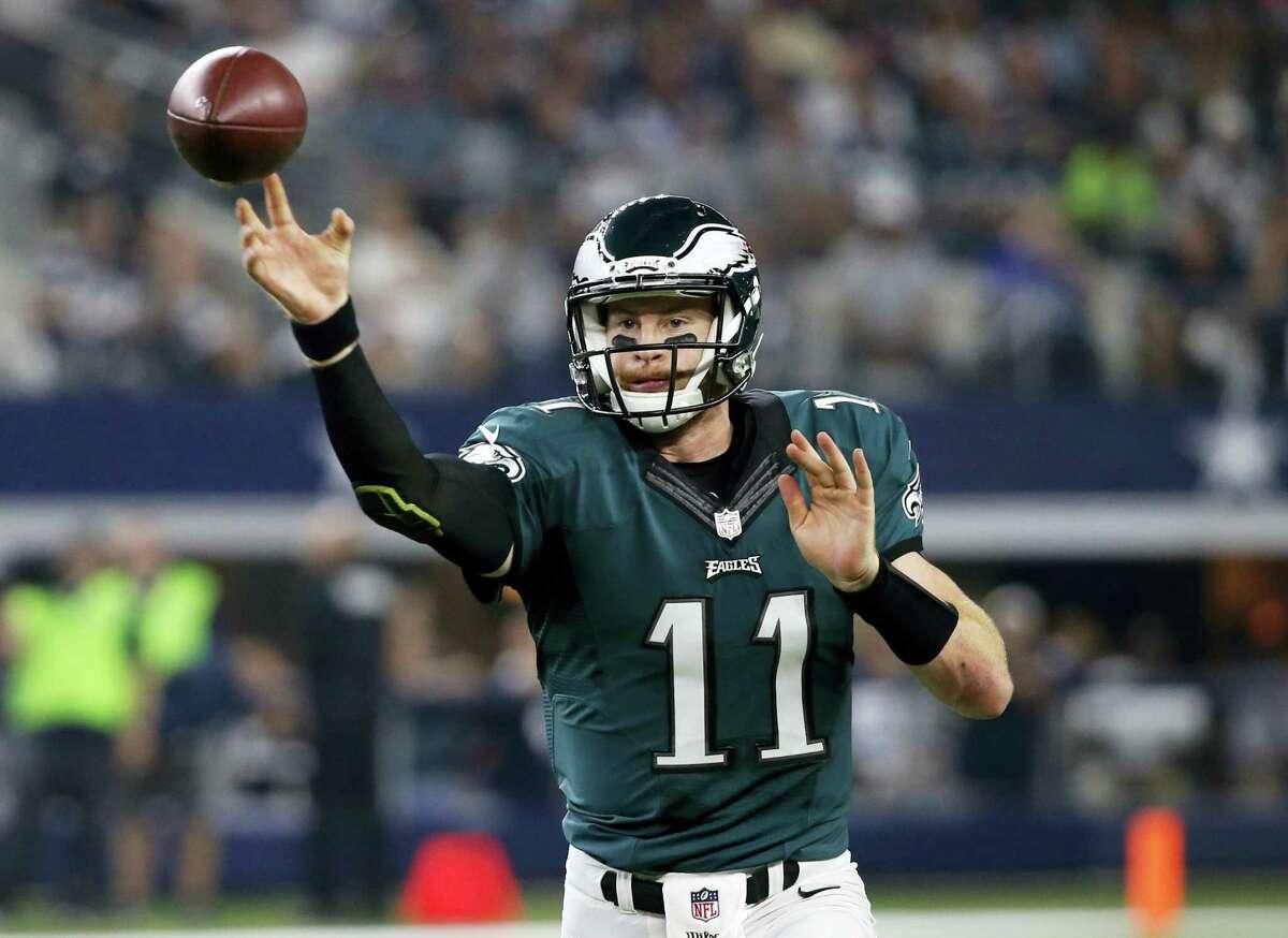 Philadelphia Eagles quarterback Carson Wentz.