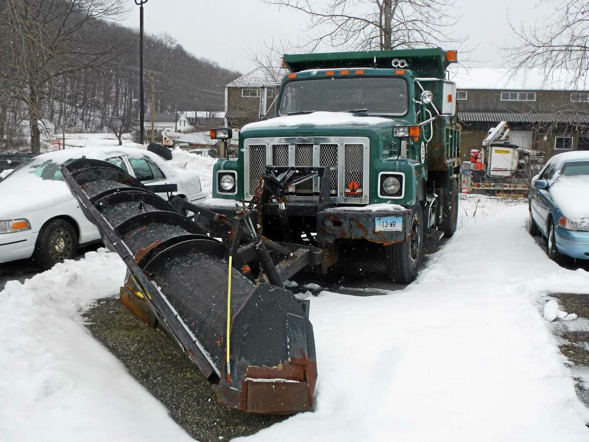 A Public Works Department plow.