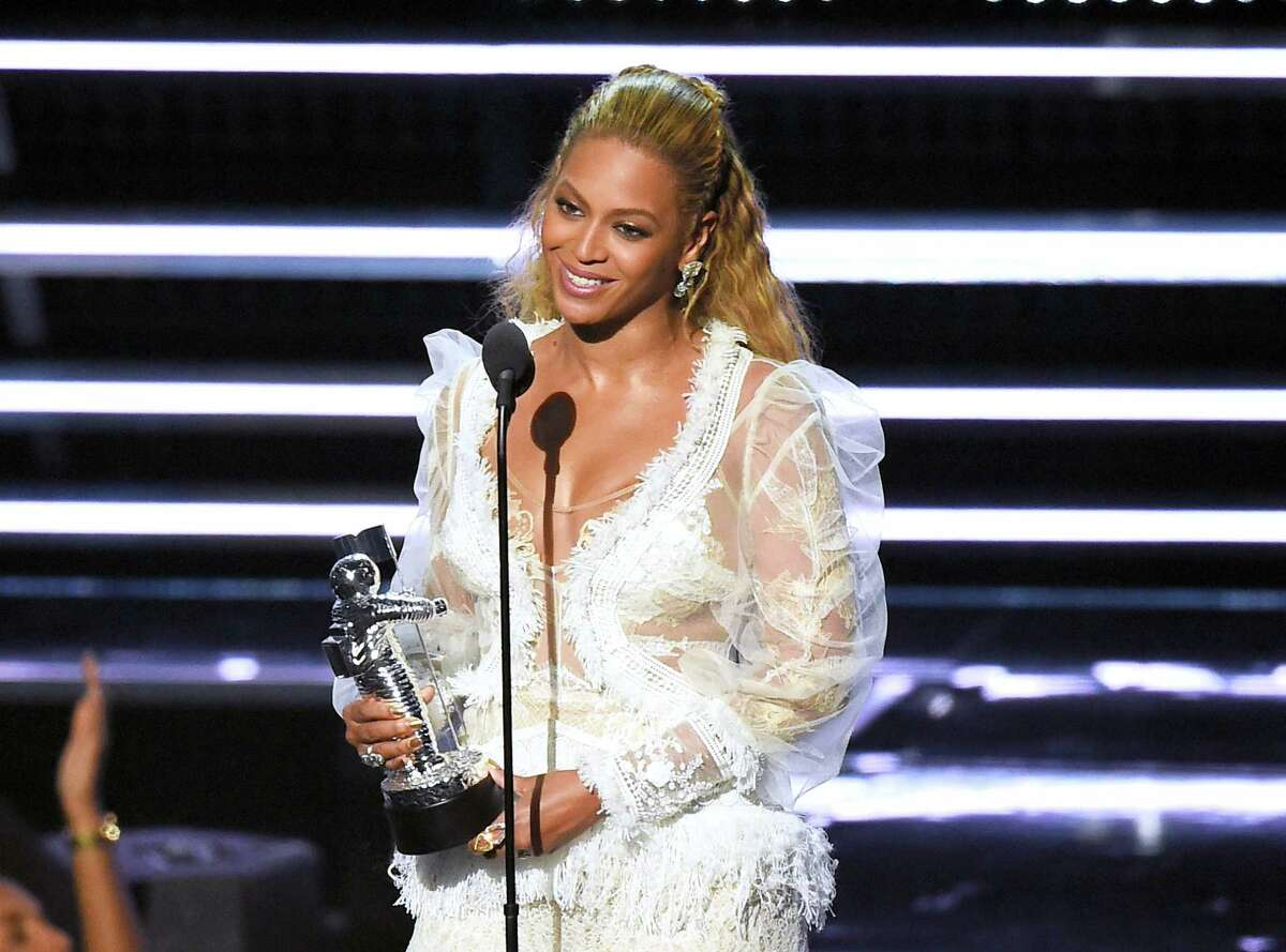 """Beyonce accepts the award for Video of the Year for """"Lemonade"""" at the MTV Video Music Awards at Madison Square Garden on Sunday, Aug. 28, 2016, in New York."""