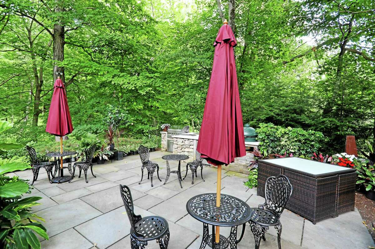 One of the outdoor seating areas at the cafe.