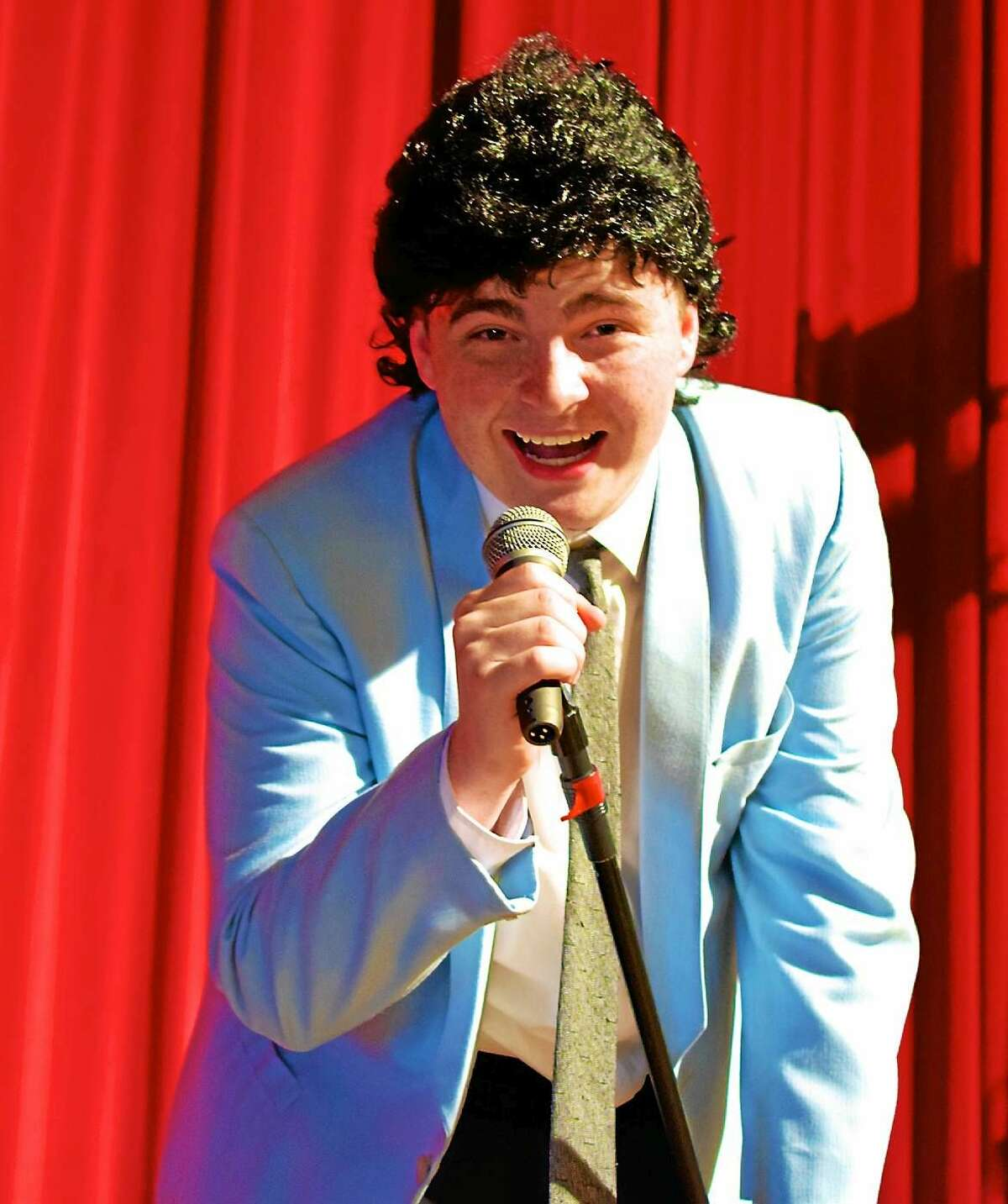 """Photos by Eric Hahn Connor Dunn plays Robbie in """"The Wedding Singer,"""" performing at the Thomaston Opera House Aug. 13-15."""