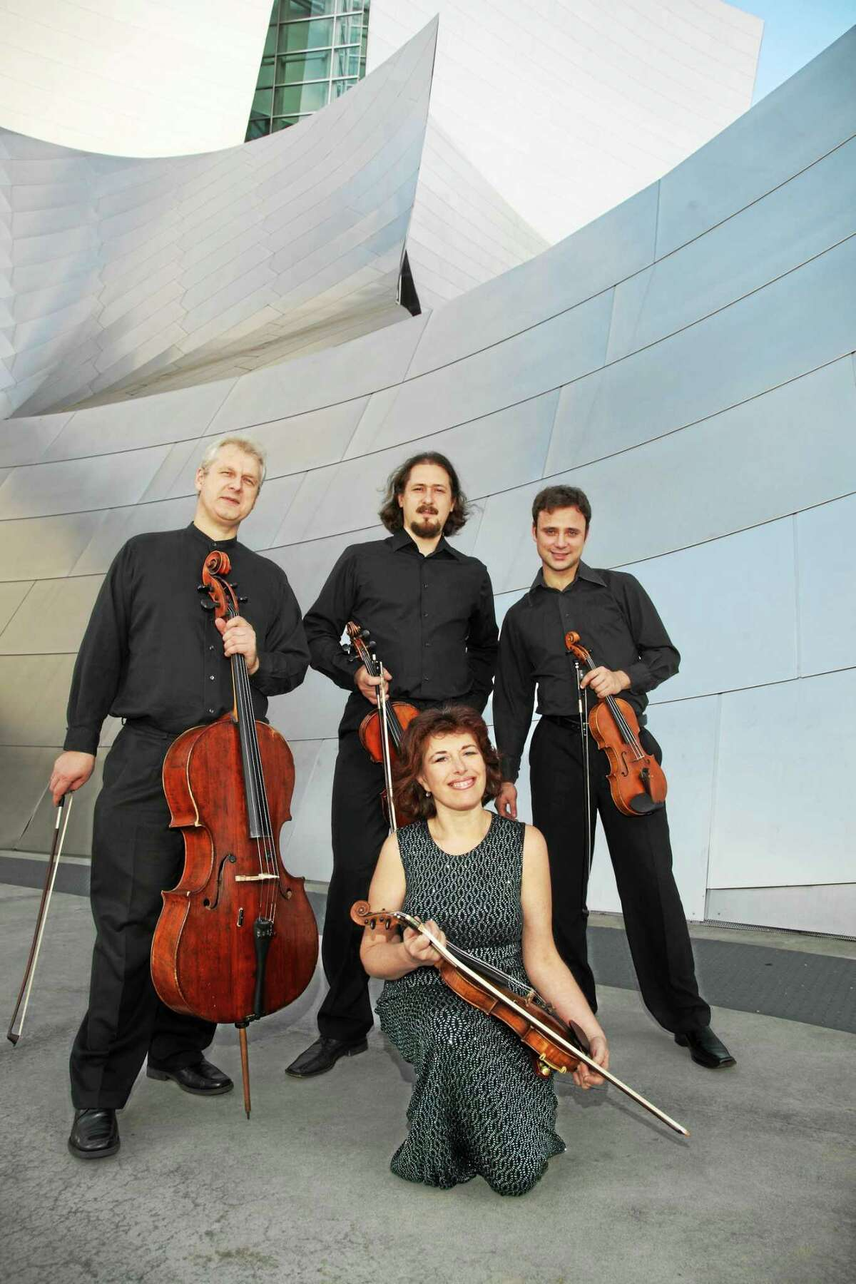 Contributed photo The St. Petersburg String Quartet returns to Music Mountain, with guest artist Pamela Mia Paul, piano, on Sunday, Aug. 9.