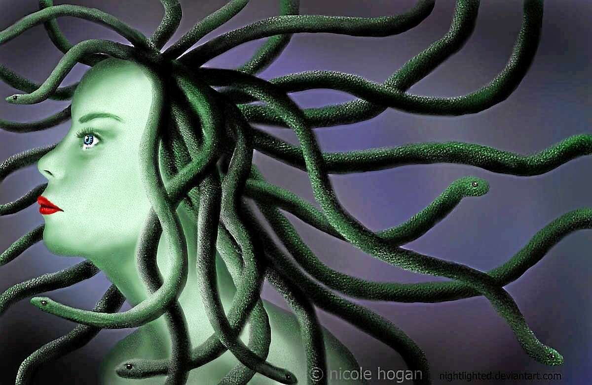 """Contributed images courtesy of the artists """"Medusa"""" by Nicole Hogan, exhibited at Karen Rossi Studios."""
