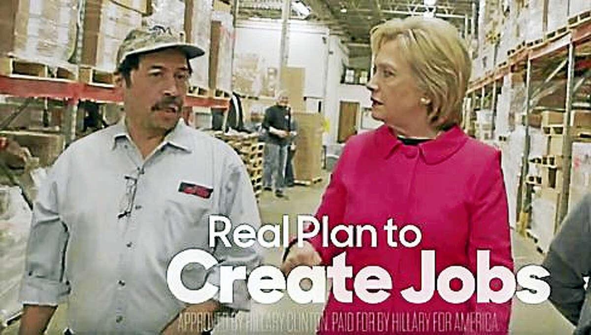 Screenshot of Clinton ad