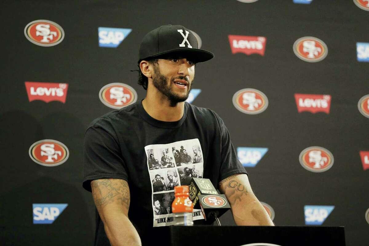San Francisco 49ers quarterback Colin Kaepernick.