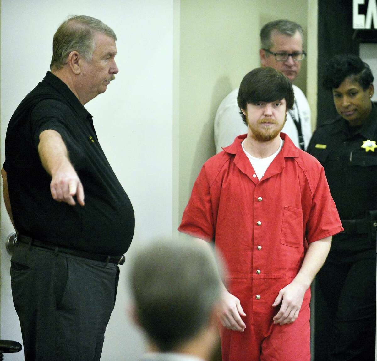 """Ethan Couch is brought into court for a hearing at Tim Curry Justice Center in Fort Worth, Texas, Wednesday, April 13, 2016. The judge ordered Couch, the Texas teenager who used an """"affluenza"""" defense in a fatal drunken-driving wreck, to serve nearly two years in jail."""