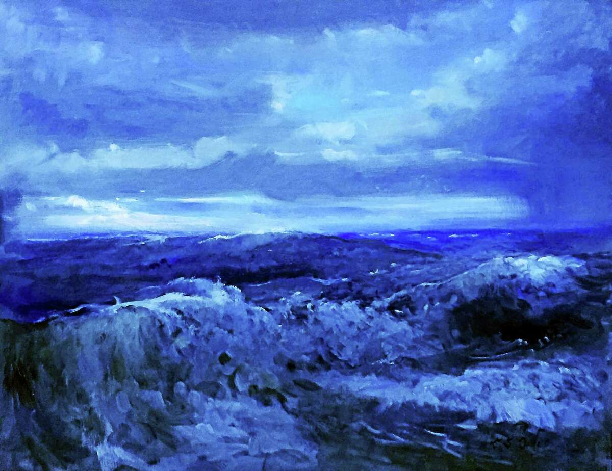 Contributed photo Edward DeVoe, Oil on canvas, Retreating Storm.