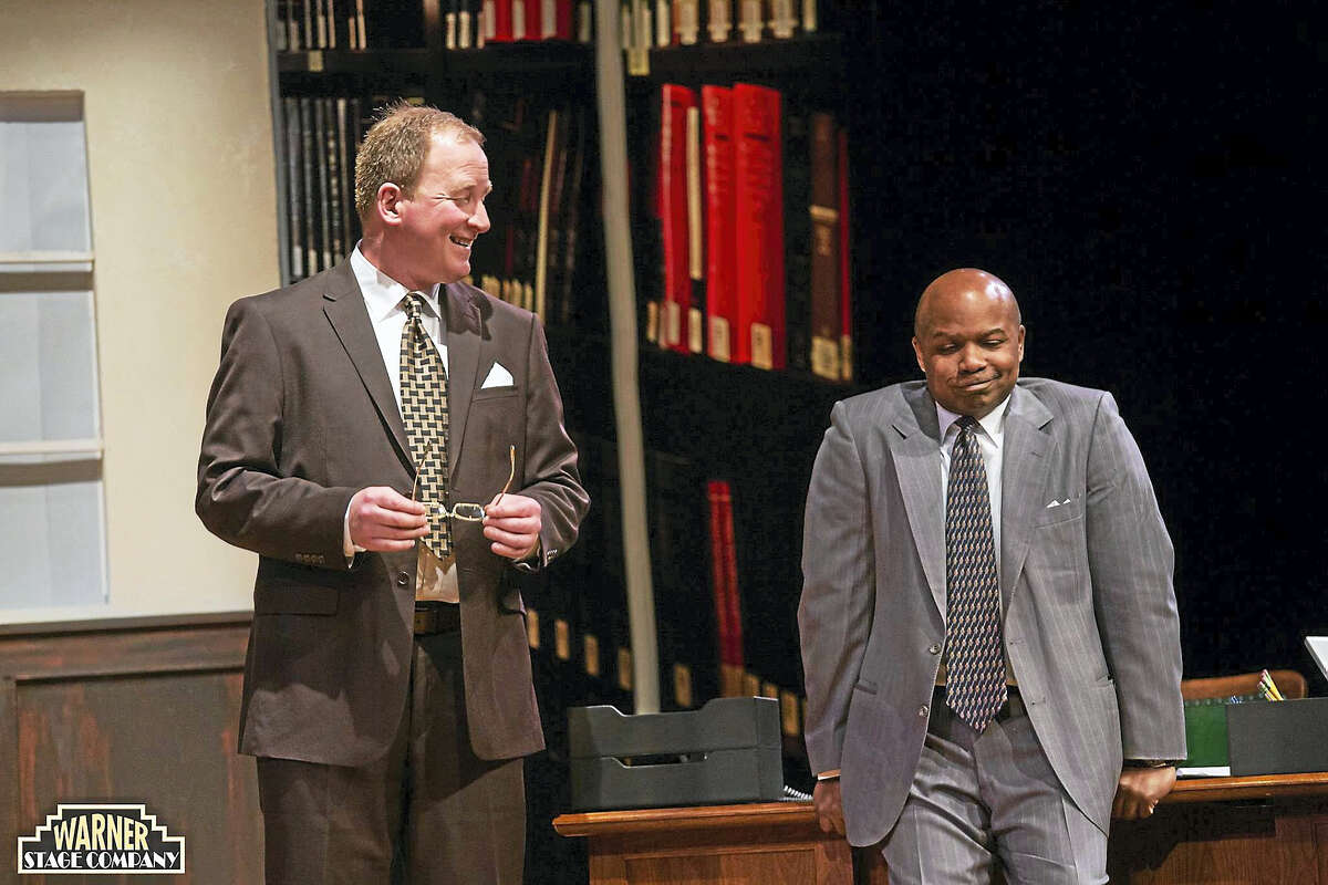 """Photo by Mandi Martini ©2016 The Warner Theatre A scene from """"Race"""" now playing at the Warner Theatre in Torrington."""