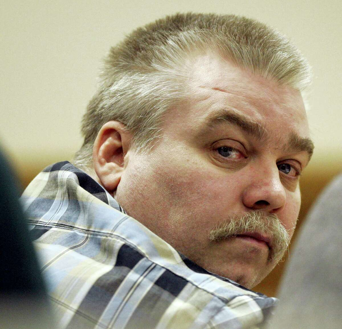 In this March 13, 2007 photo, Steven Avery listens to testimony in the courtroom at the Calumet County Courthouse in Chilton, Wis.