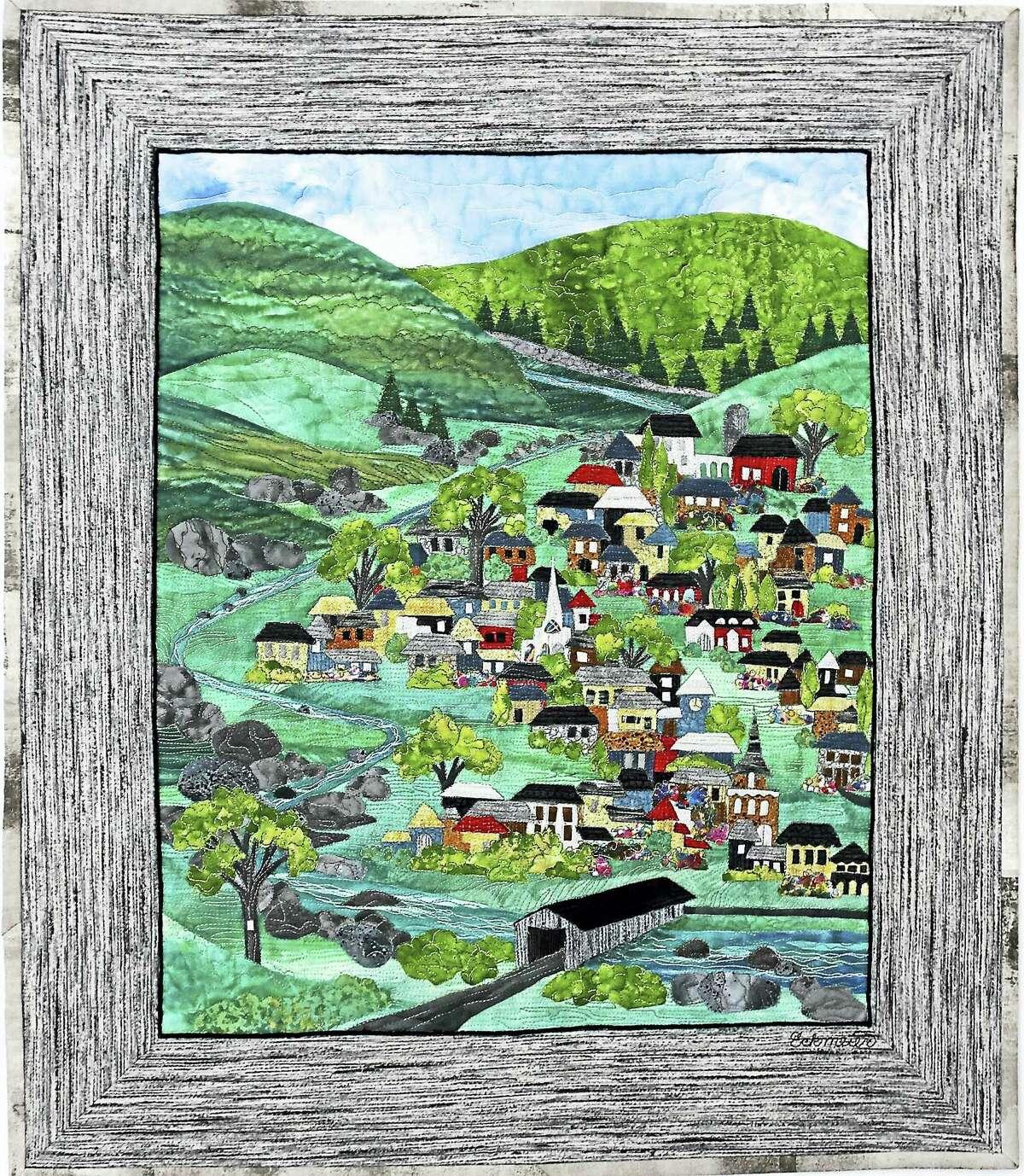 Contributed photoNew England Village, an art quilt by Karen Eckmeier.
