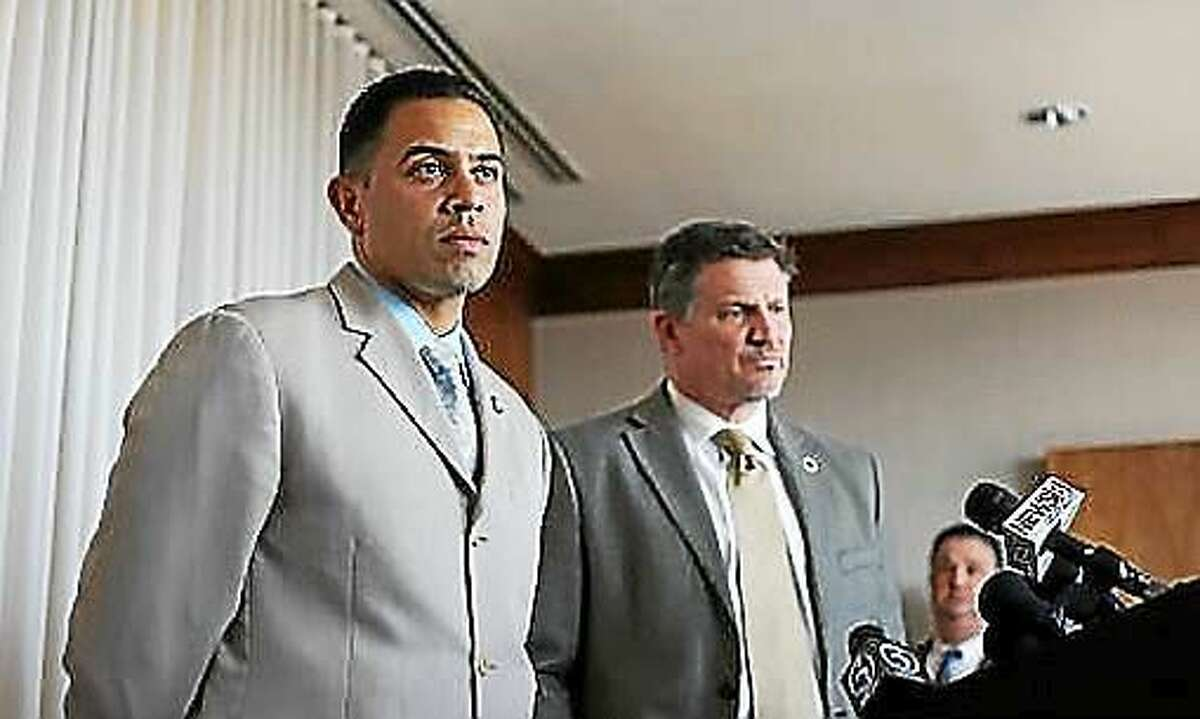 Mashantucket Pequot Tribal Chairman Rodney Butler and Mohegan Tribal Council Chairman Kevin Brown