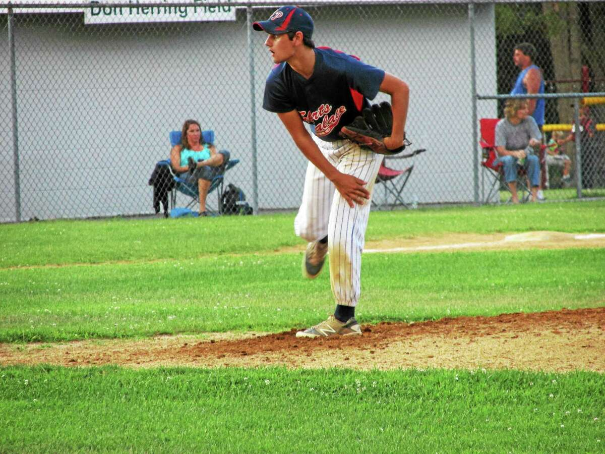Torrington's Josh Rubino staved off trouble in the final inning for a Torrington Connie Mack win at Amenia.