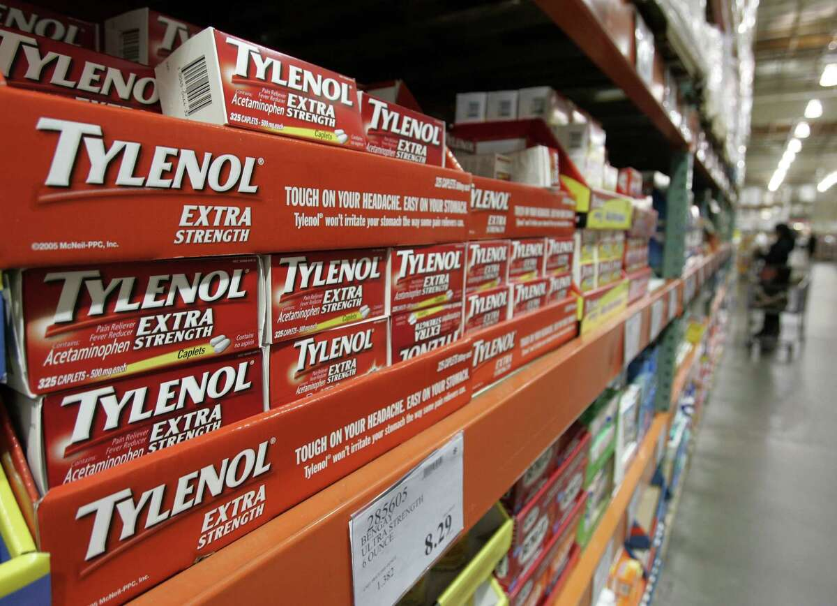 In this Dec. 12, 2007 photo, Tylenol drugs are shown in the drug department at Costco in Mountain View, Calif.