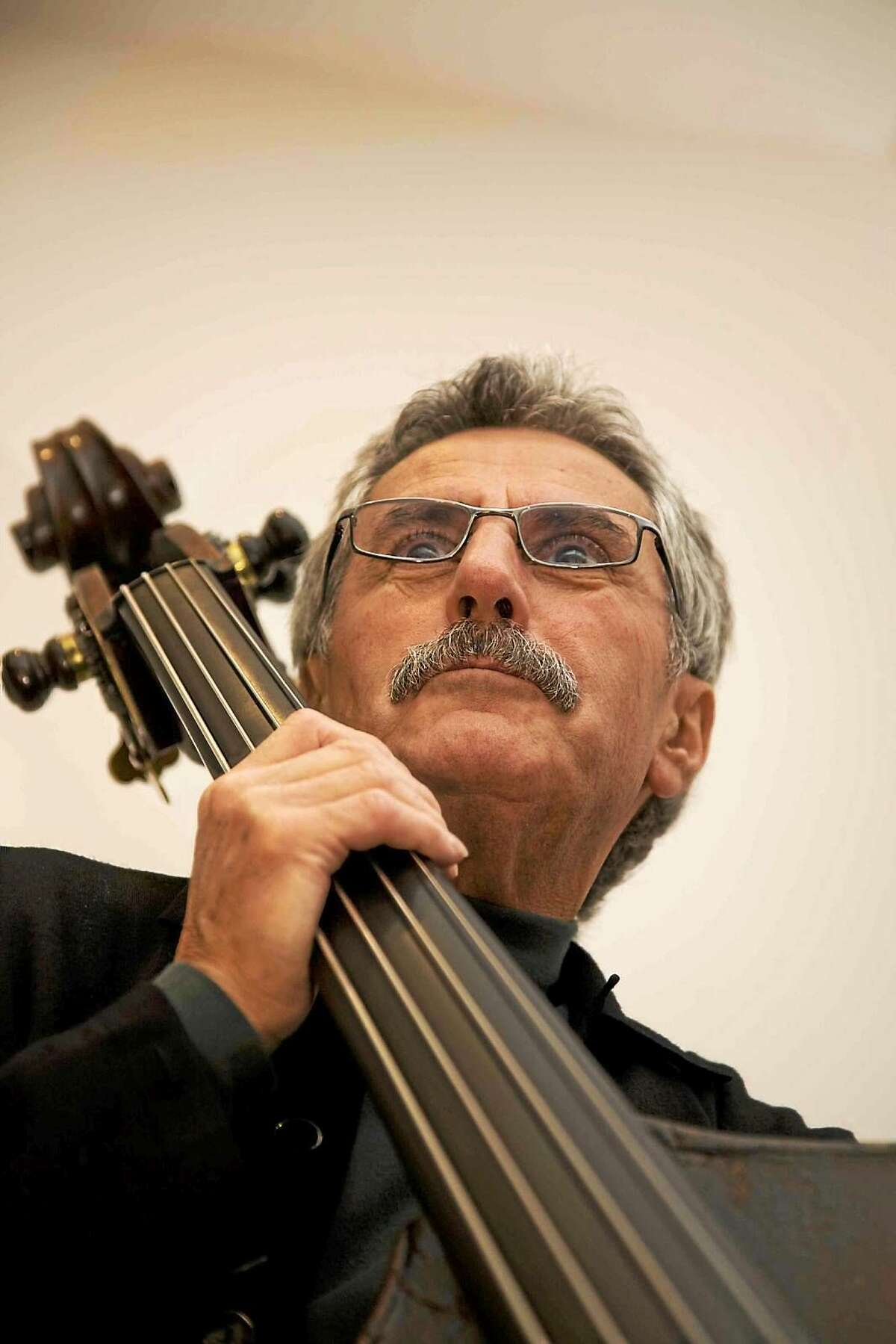 Mario Pavone in Hartford. Pavone anchored the Thomas Chapin Trio and remains an important part of jazz music and the Litchfield Jazz Festival.