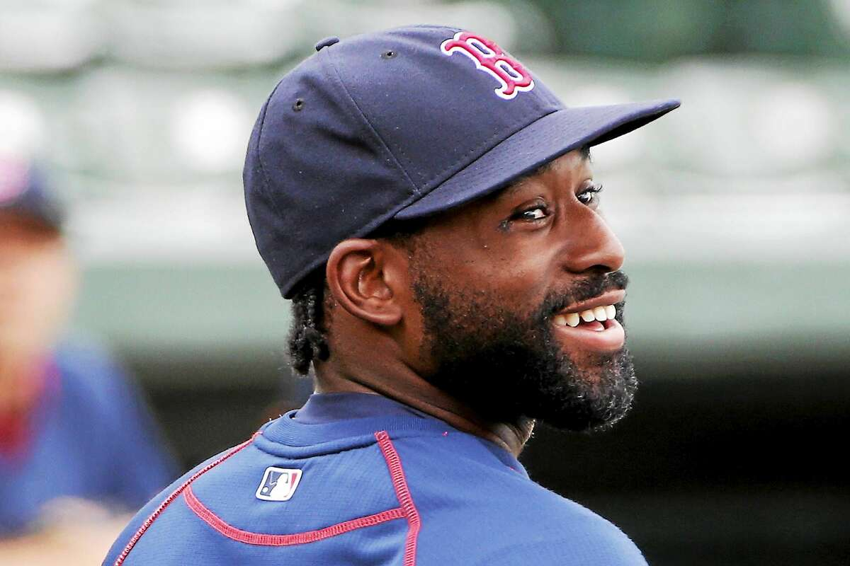 Boston Red Sox's Jackie Bradley Jr. waits his turn in the batting cage before a spring training exhibition baseball game against the Baltimore Orioles in Sarasota, Fla., back in March. (AP Photo/Gene J. Puskar)